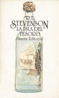 "Cover design: Daniel Gil. (Spanish edition of ""Treasure Island,"" by Robert Louis Stevenson. Alianza Editorial, Madrid.)"
