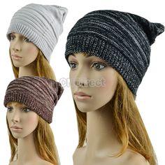 $2.20 Unisex Hip-hop Style Winter Baggy Beanie Knit Crochet Hats