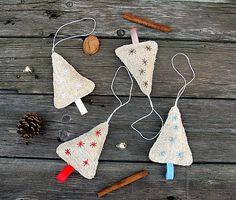 Dadyart / Stromčekyyy ľanové Christmas Ornaments, Holiday Decor, Home Decor, Xmas Ornaments, Homemade Home Decor, Christmas Jewelry, Christmas Ornament, Interior Design, Christmas Baubles