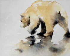 Polar bear watercolor by september Vhay