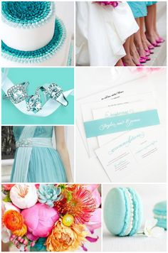 Tiffany Blue and Pink Wedding Inspiration