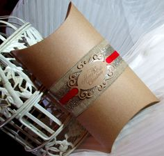 3 LARGE Christmas Pillow Boxes - Christmas Gift Boxes - Merry Christmas - Glitter Ribbon - by Pedoozle on Etsy