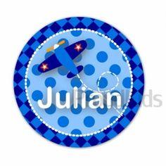 Naam button 37 mm • PLANE LOGO + NAAM • - Naambuttons - Buttons (met naam) - Mooimakers