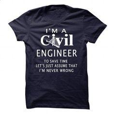 Civil engineer - #tees #t shirt ideas. GET YOURS => https://www.sunfrog.com/LifeStyle/Civil-engineer-146036981-Guys.html?60505