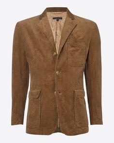 Engineered Garments Baker Corduroy Jacket: Khaki