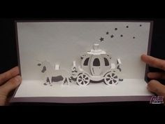 Walt Disney Cinderella Carriage Card Tutorial, Origamic Architecture - YouTube