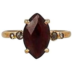 Chan Luu 18 TCW Diamond, Garnet and 18K Gold-Plated Sterling Silver... ($265) ❤ liked on Polyvore featuring jewelry, rings, joias, red, fine jewelry diamond rings, garnet rings, diamond fine jewelry, red garnet ring and diamond jewelry