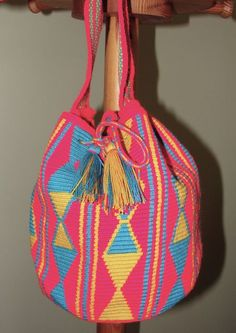 Beautiful Wayuu Mochila Bag from Colombia