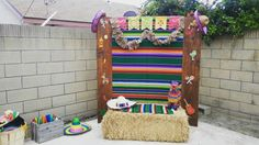 Photo booth Mexican theme custom design by Kelly Lopez Mexican Birthday Parties, Dance Party Birthday, Fiesta Theme Party, Party Themes, Ideas Party, Picture Booth, Photo Booths, Fiesta Photo Booth, Mexican Party Decorations