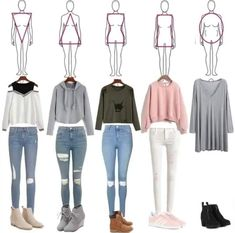 50 Back to School Outfits for Highschool to Start the Year Off Amazingly - Teenage outfits - Teenage Outfits, Teen Fashion Outfits, Mode Outfits, Trendy Outfits, Girl Fashion, Girl Outfits, Casual Teen Fashion, Style Fashion, Cute Outfits For School For Teens