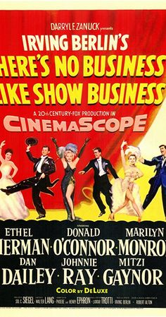Directed by Walter Lang.  With Ethel Merman, Marilyn Monroe, Donald O'Connor, Dan Dailey. Molly and Terry Donahue, plus their three children, are The Five Donahues. Son Tim meets hat-check girl Vicky and the family act begins to fall apart.