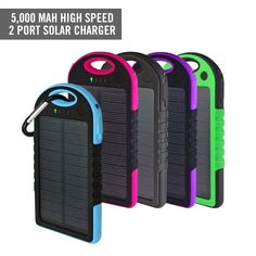 Never leave home without this awesome two port solar charger. It allows you to conveniently charge anywhere anytime using sunshine. Attach this cool solar charger to your backpack and use it while hiking, biking, or traveling. Dog Gadgets, High Tech Gadgets, Gadgets And Gizmos, Iphone Gadgets, Office Gadgets, Geek Gadgets, Travel Gadgets, Electronics Gadgets, Solar Phone Chargers