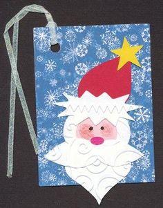 Santa tag created using Cricut Design Studio and Cricut Plantin Schoolbook font cartridge
