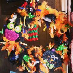 Halloween fun wreath
