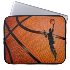 Techno Player in a Layup Shot on Basketball Cases for Your Laptop Computers. Guys will like the up close basketball view with the cool black silhouette player.  Basketball CASES LINK:  http://www.zazzle.com/littlelindapinda/gifts?cg=196258328220290872&rf=238147997806552929* ALL Basketball Stuff LINK: http://www.zazzle.com/littlelindapinda/gifts?cg=196808750908670951&rf=238147997806552929*  ALL Little Linda Pinda Designs and Gifts:  http://www.Zazzle.com/LittleLindaPinda*/
