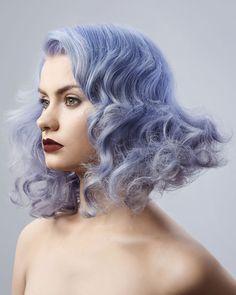 Periwinkle blue hair