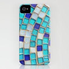 ::sea inspired tile look phone case <3