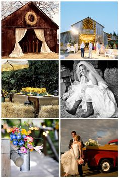 a barn to use for the occasional wedding of friends would be cool on our property.  how cute