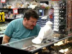 Look at this awesome Bird we saw when we visited the Flea Market out here in Florida. This man brings him to work every day and he loves to see all the peopl. Baby Animals, Funny Animals, Cute Animals, Animal Funnies, Cockatiel, Budgies, My Beautiful Friend, Beautiful Birds, Funny Parrots