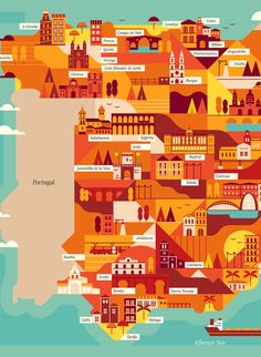 Explore the corners of the earth with our latest selection of editorial maps.  Working in a flat, graphic style we depicted various cities and countries from around the world, commissioned by a variety of clients.