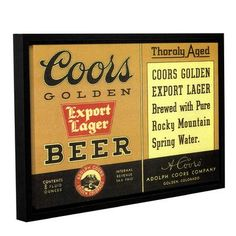 Red Barrel Studio Thoroly Aged Export Lager Framed Vintage Advertisement on Gallery Wrapped Canvas Size: