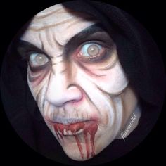 The Witch in the Woods Face paint Amazing Halloween Makeup, Halloween Face Makeup, Monster Mask, Face Paintings, Costume Makeup, Special Effects, Face And Body, Body Painting, Hairdresser