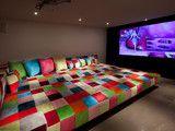 Basement - contemporary - basement - new york - by Feathered Nest Interiors, LLC