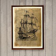Nautische Dekoration Schiff Drucken Sailor Poster Vintage Dekor