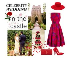 """Castle wedding"" by molly2222 ❤ liked on Polyvore featuring Tamara Mellon, Yves Saint Laurent, Brixton and CelebrityWedding"