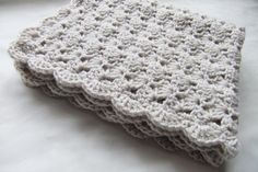 crocheted blanket. Simple but beautiful.