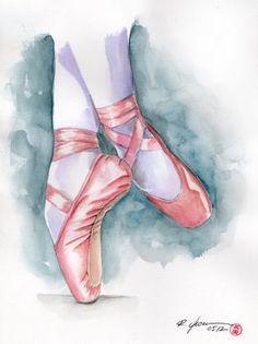 Ballet by rchaem on DeviantArt - Malerei Ballet Painting, Dance Paintings, Ballet Art, Ballet Dancers, Ballerinas, Painting Art, Paintings Tumblr, Ballet Drawings, Dancing Drawings