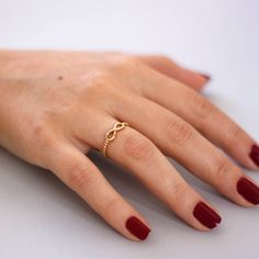 Infinity ring ball ring solid gold minimal by KyklosJewelryLab Gold Jewellery Design, Gold Jewelry, Rings For Her, Eternity Ring, Promise Rings, Bling Bling, Solid Gold, Gifts For Women, Jewelry Collection