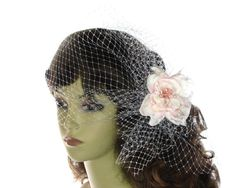 Hey, I found this really awesome Etsy listing at https://www.etsy.com/listing/190281770/bridal-veil-cap-with-pure-silk-flower