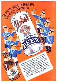Vintage advertisement for Pabst Beer, 1937
