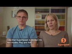 En norsk familie forteller om en app som heter SuperSpeak.
