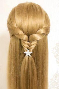 Hairdo For Long Hair, Easy Hairstyles For Long Hair, Front Hair Styles, Medium Hair Styles, Hair Style Vedio, Easy And Beautiful Hairstyles, Hair Tutorials For Medium Hair, Dark Blonde Hair Color, Fast Hairstyles