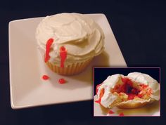 bloody cupcake anyone?  yummy vampire treat!