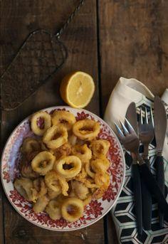 Calamares fritos sencillos