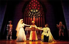 The Bishop - Wedding Scene Shrek Wedding, Wedding Scene, Shrek Costume, Costumes, Stage Props, Theatre Design, Make Me Smile, Cathedral, Musicals