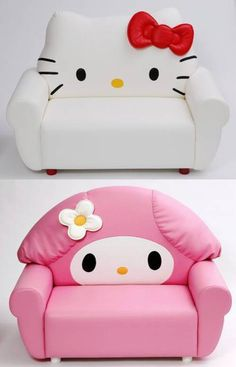 Hello Kitty Sofa I Want Both Of These Sofas