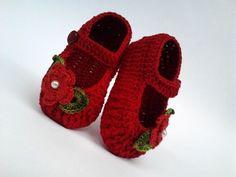 Sapatinhos de crochê (fotos: google, sem receitas - desconheço as autorias)