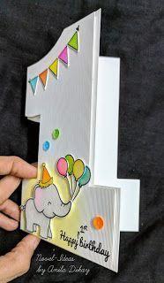 New ideas: Happy birthday (Math Challenge) - tarjetas 1st Birthday Cards, Bday Cards, Handmade Birthday Cards, Children Birthday Cards, Birthday Diy, Diy Birthday Scrapbook, Origami Birthday Card, Tarjetas Diy, Karten Diy