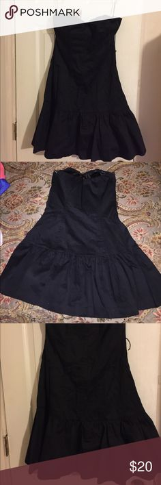 strapless black dress black dress, has 2 layers of fabric. Express Dresses Strapless