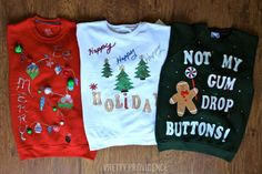 DIY ugly sweater ideas