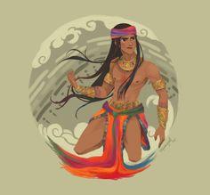 Barangaw - god of the rainbow. He can manipulate colors of the rainbow to various effects Barangaw Philippine Mythology, Philippine Art, Filipino Art, Filipino Culture, Character Concept, Character Art, Character Design, Concept Art, Ancient Art