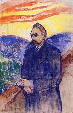 """Edvard Munch, """"Portrait of Friedrich Nietzsche"""" Munch Museet, Oslo, Norway. Edvard Munch, Friedrich Nietzsche, Oslo, Modern Art, Contemporary Art, Wassily Kandinsky, Le Cri, Post Impressionism, Paul Gauguin"""
