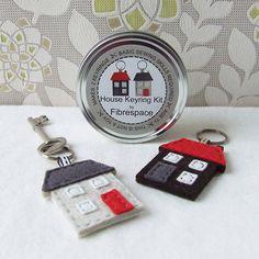 House Keyring Sewing Kit
