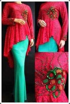 baju muslim brokat terbaru by elena Muslim Fashion, Modest Fashion, Hijab Fashion, Indian Fashion, Womens Fashion, Muslim Gown, Muslim Wedding Dresses, Muslim Images, Kebaya Brokat
