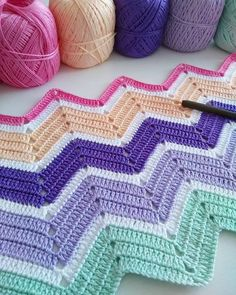 Crochet Ripple Stitch – Awesome Knitting Ideas and Newest Knitting Models Chevron Crochet Blanket Pattern, Crochet Ripple Blanket, Afghan Crochet Patterns, Baby Knitting Patterns, Chevron Afghan, Chevron Baby Blankets, Etsy, Crochet Animals, Crochet Toys