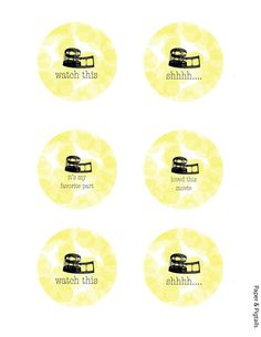 2013 Oscar Party Free Printables!